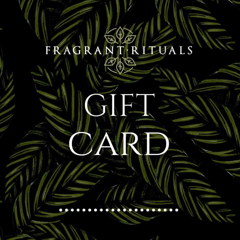 Natural perfume gift card